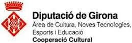 Emblema de Diputació de Girona, Àrea de Cultura, Noves Tecnologies, Esports i Educació, Cooperació Cultural