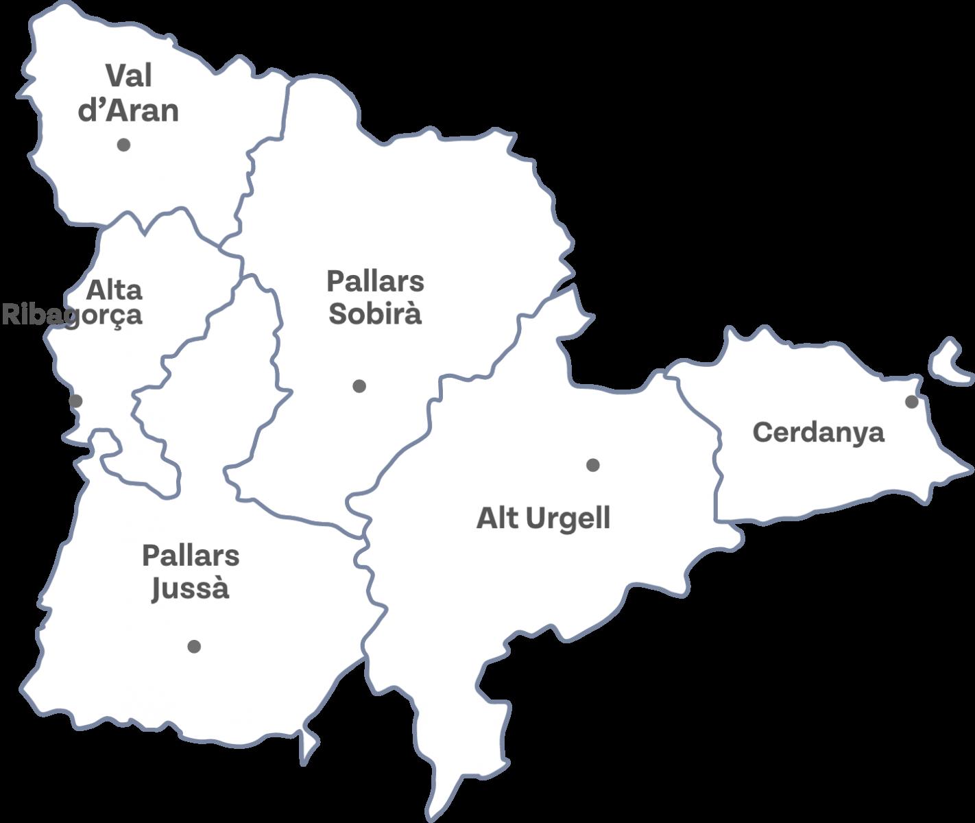 Mapa de Cerdenya