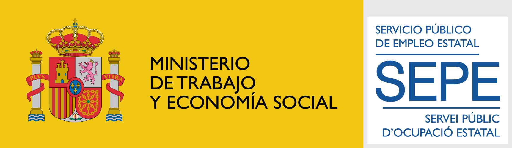Emblema del Ministerio De Trabajo Y Economía Social, Servicio Público De Empleo Estatal SEPE, Servei Públic D'Ocupació Estatal