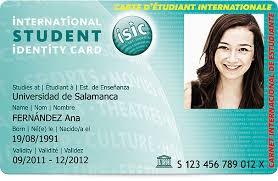 Carnet d'estudiant internacional ISIC